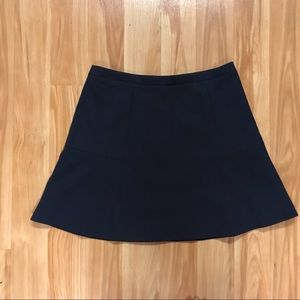 J crew navy fit and flare skirt size 6